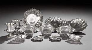 1367 14 Pieces of American Small Sterling Tableware