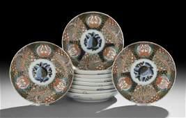 1648: Set of Ten Japanese Imari Plates
