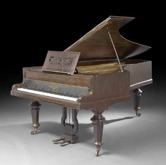 1: J. Broadwood and Sons Semi-Grand Rosewood Piano