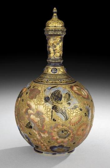 3: Exceptional Royal Crown Derby Lidded Bottle Vase