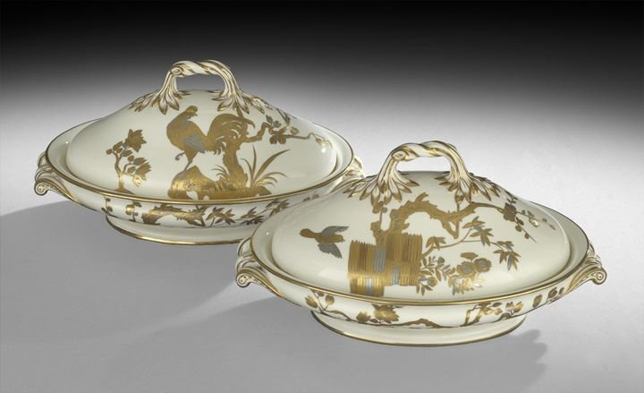 4: Pair of Minton Covered Vegetable Tureens