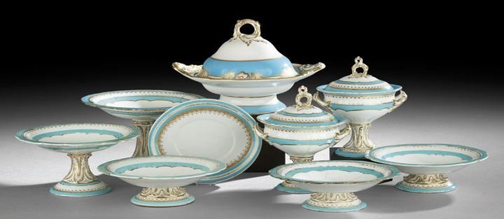 8: Collection of Rockingham-Style Dinnerware