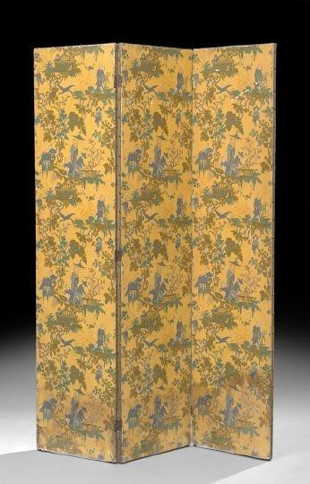 10: Chinoiserie Three-Fold Screen