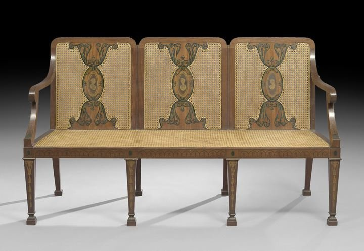 11: Edwardian-Style Mahogany Settee