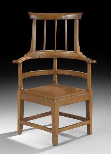 13: Provincial English Fruitwood Corner Chair