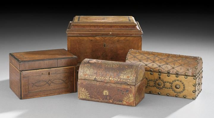 15: Collection of Four 19th Century Wooden Boxes