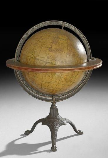 19: Wood, Paper and Cast-Iron Weber World Globe
