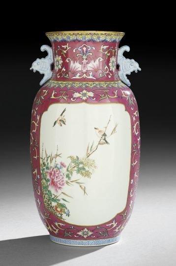 315: Chinese Porcelain Famille Rose Vase