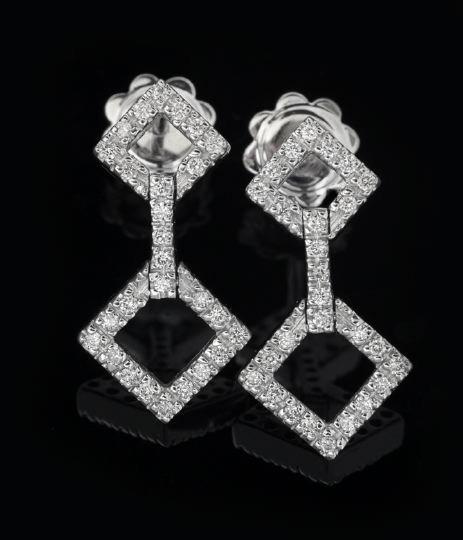 794: Pair of 18 Karat Gold and Diamond Earrings
