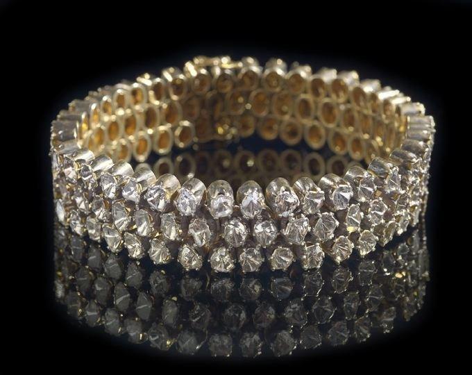 798: Lady's Gilt Silver Diamond Bracelet