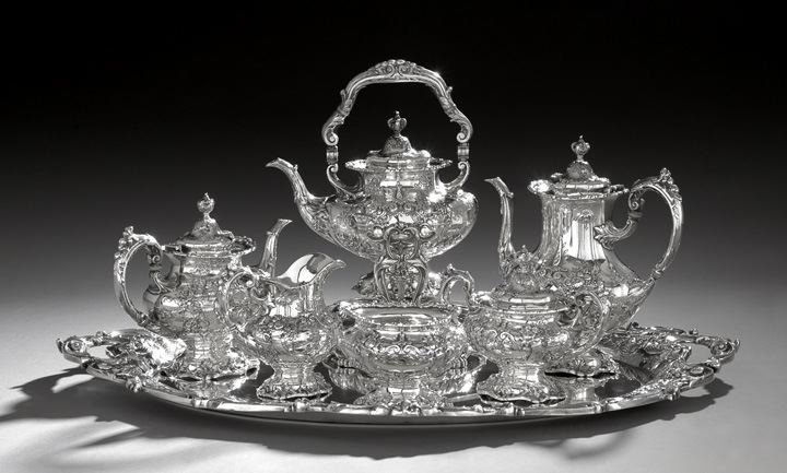 "1281: Seven-Piece ""Francis I"" Sterling Silver Tea Set"