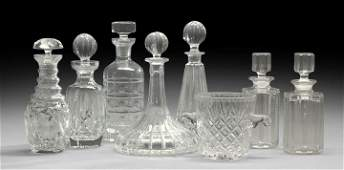 1340 Collection of Lead Crystal Bar Wares
