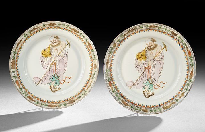 15: Pair of Chinese Export Porcelain Plates