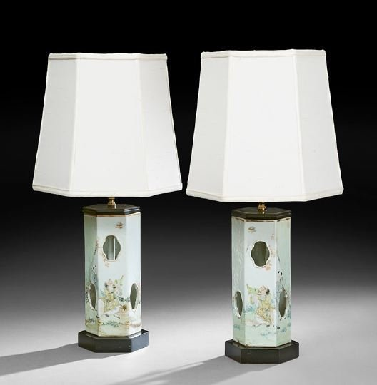 224: Pair of Chinese Porcelain Hat Stands