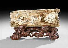 286: Chinese Mammoth Ivory Carving
