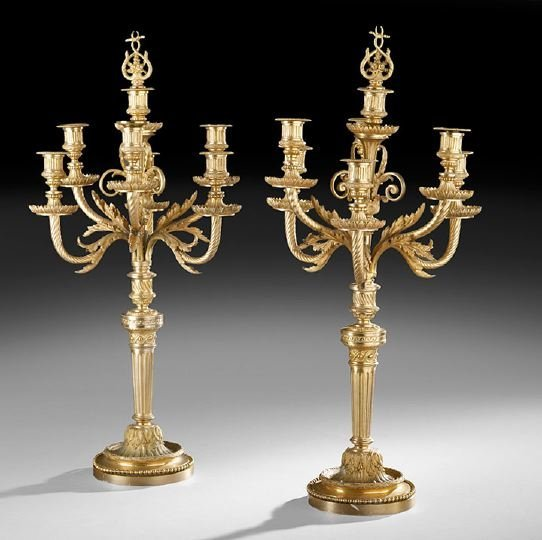 431: Pair of French Louis XVI-Style Candelabra