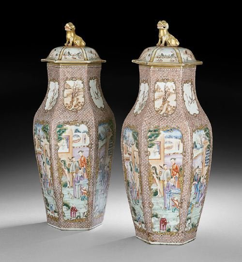 509: Pair of Chinese Large Porcelain Vases