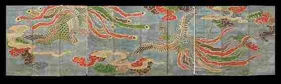 868 Impressive Japanese Folding Screen of Ten Panels