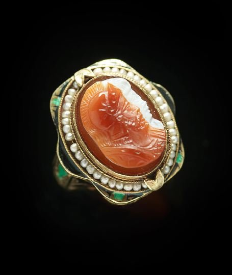 1177: Lady's 14 Kt. Yellow Gold Victorian Ring