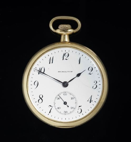 2: Eighteen Karat Gold Hamilton Pocket Watch