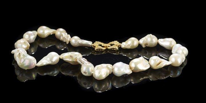 6: Single Strand of Multi-Colored Baroque Pearls