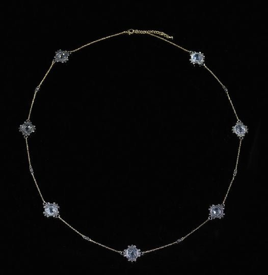 8: Gold-Tone and Anodized Crystal Necklace
