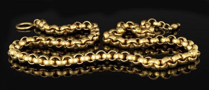 12: Lady's Gold-Tone Interlocking Chain Necklace