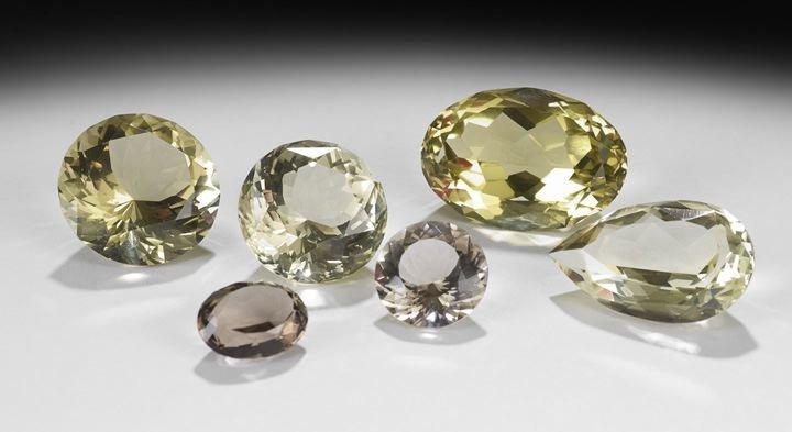 13: Collection of Six Quartz Crystals