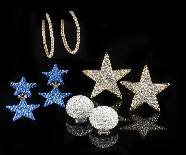 24: Four Pairs of Lady's Fashion Rhinestone Earrings