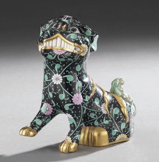 95: Hand-Painted Porcelain Foo Dog