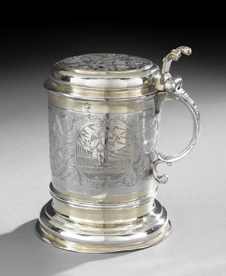 18th Century Russian Parcel-Gilt Silver Tankard