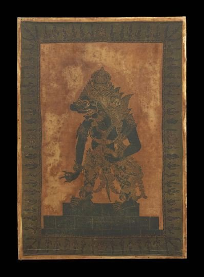 Burmese Painting on Silk