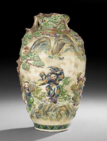 Japanese Stoneware Vase