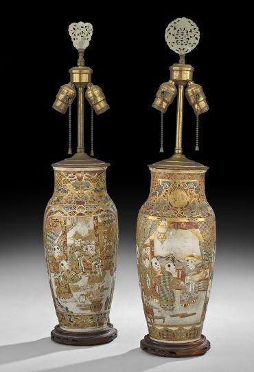 Pair of Japanese Stoneware Vases