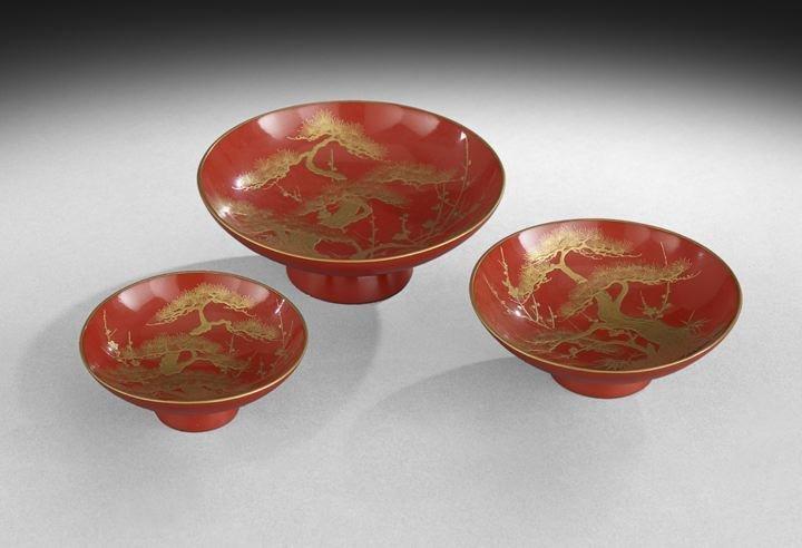 Set of Three Japanese Wedding Cups