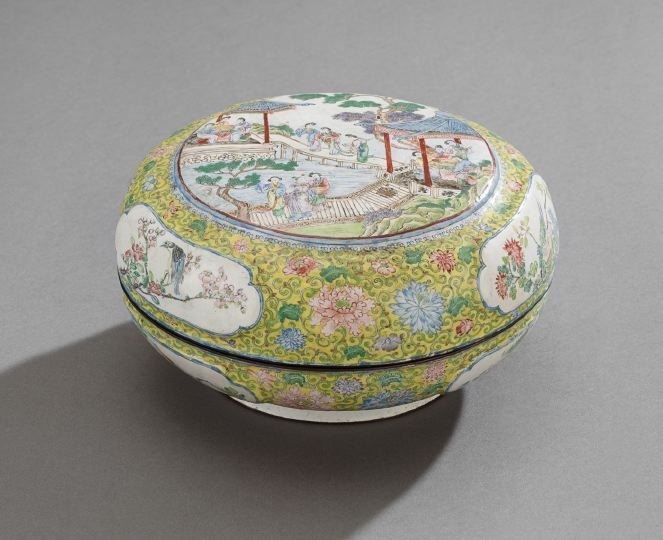 Chinese Canton Enameled Box