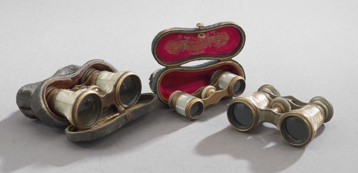 Three Pairs of  Mother-of-Pearl Opera Glasses
