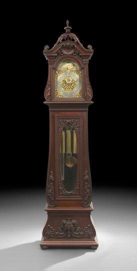 Herschede Mahogany Tubular Chiming Tall Clock
