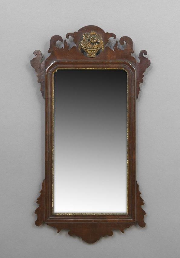Chippendale-Style Parcel-Gilt  Mirror