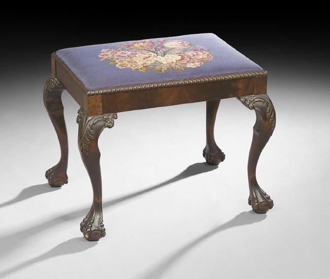 George III-Style Mahogany Footstool