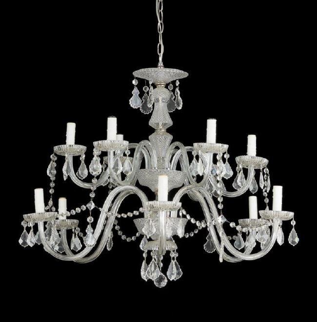 Irish George III-Style Glass Chandelier