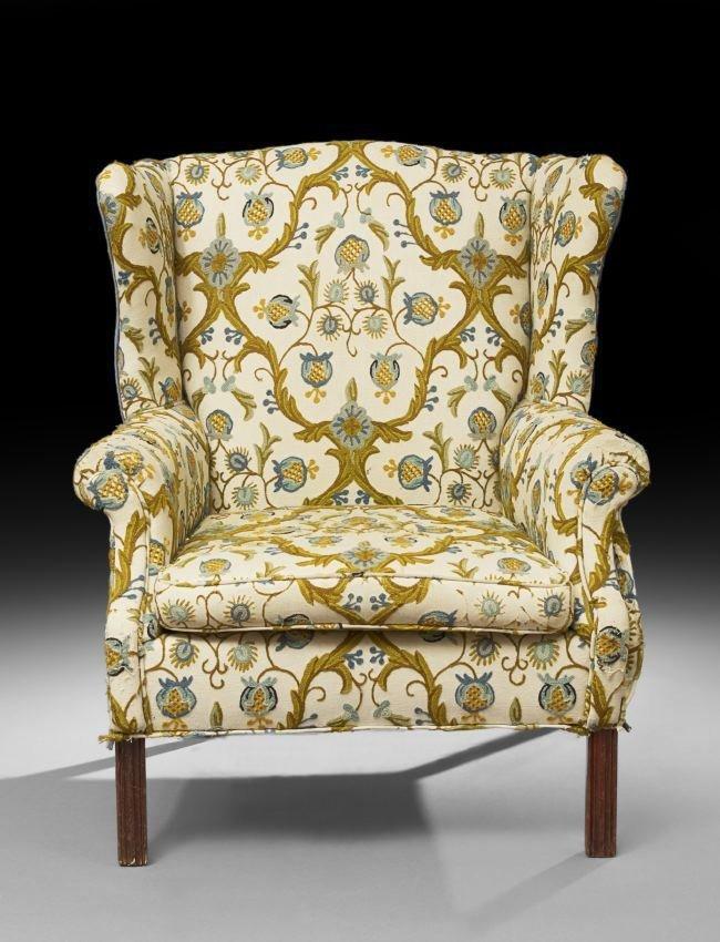 George III-Style Mahogany Wing Chair