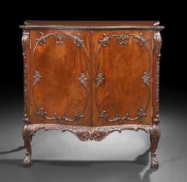 George III-Style Mahogany Cabinet
