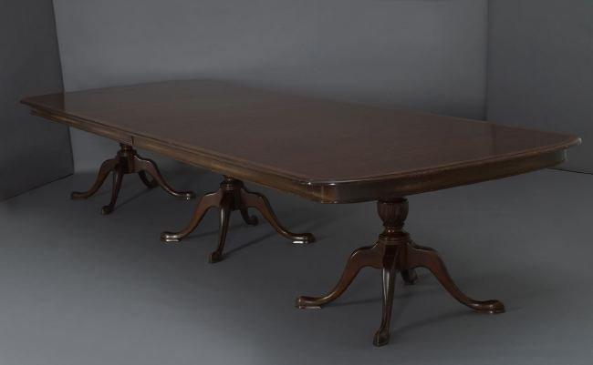 Monumental George III-Style Mahogany Dining Table