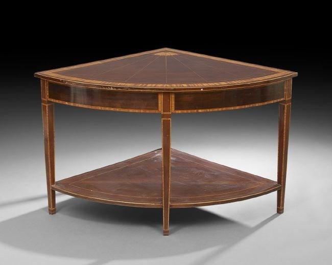George III-Style Mahogany Corner Table