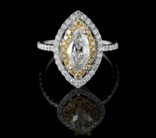 14 Kt. Gold and Fancy Light Yellow Diamond Ring