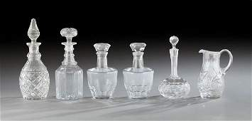 Six Pieces of Cut Glass