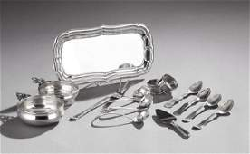 14 Pcs of American Sterling Silver Tableware