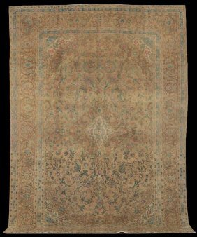 Semi-Antique Kashan Carpet