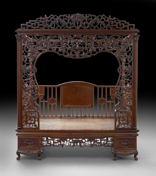 Chinese Rosewood Canopy Bed